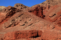 Golden Canyon red rock walls at the mouth of the canyon