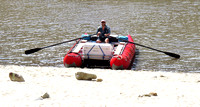 Mike Simpson takes to the water with his new raft
