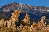 Morning light on the Tufa Towers with the Sierras in background