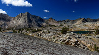 The High Sierra Mountains approaching Evolution Basin