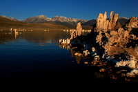 Morning light on the tufa formations