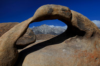 Mobius Arch with Lone Pine Peak in distance